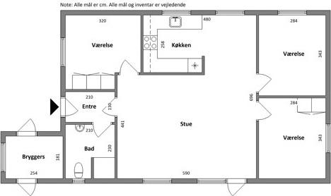 Lejlighed 4 værelses lejlighed